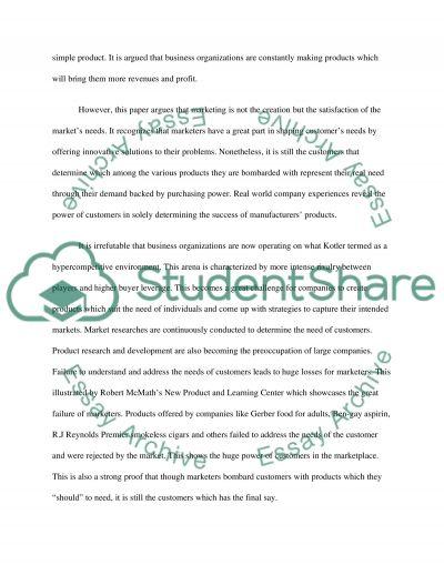 Marketing Debate: Does marketing create or satisfy needs essay example