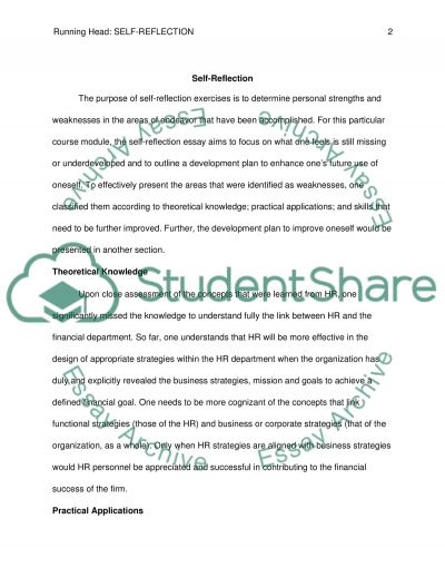 self reflection coursework example topics and well written self reflection essay example
