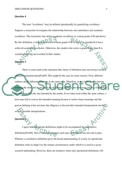 Answer the question essay example