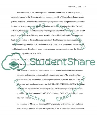 Annotated bibilography on evidence based research-pressure ulcers essay example