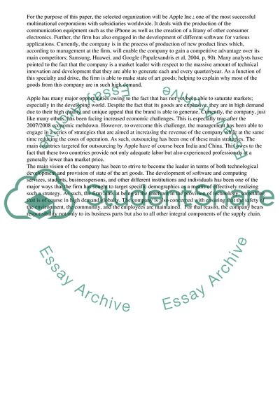 Business Strategy Essay Example  Topics And Well Written Essays  Business Strategy