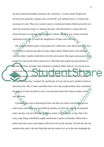 Computer Science Essays Analysis Of Holy Water What Is A Thesis Statement In An Essay Examples also Essays About Health Analysis Of Holy Water Essay Example  Topics And Well Written  English Narrative Essay Topics