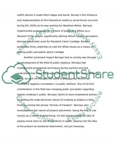 Edward Bernays Influence essay example