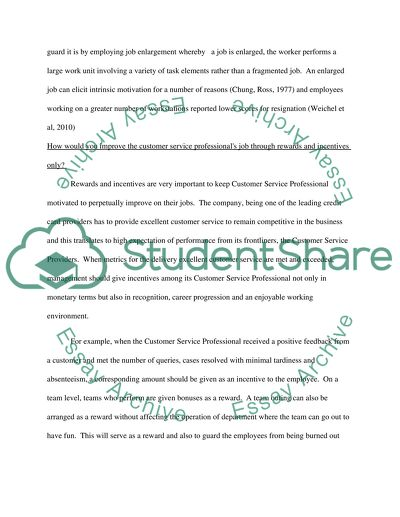 Marketing and Customer Service: Questions and Answers Essay - Words