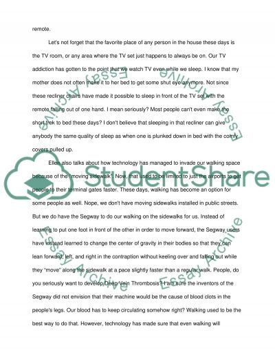 This is How We Live - English Essay