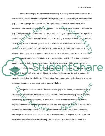 Argument essay on achievement gap
