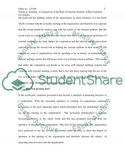 External Auditing essay example