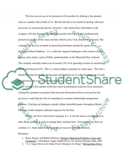Marketing Cases Problem Solving essay example