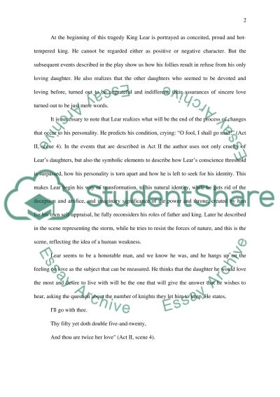 Shakespear writing essay example