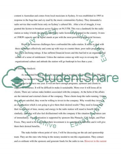 Written Analysis essay example