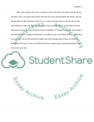 example of narrative essays for high school