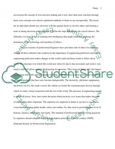 Engineering Ethics essay example