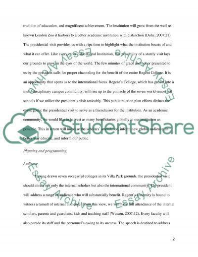 Public Relations Plan essay example