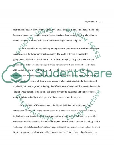Digital Divide essay example