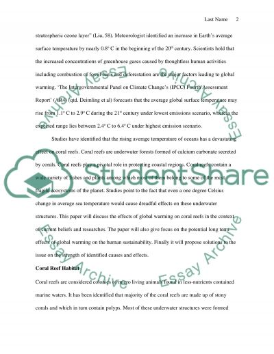global warming essay examples argumentative essay on global  the effects of global warming on coral reefs research paper the effects of global warming on