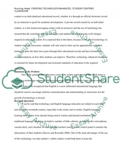 Creating technology-enhanced, student-centered classroom: integrating technology into classroom of teach English as a second lan essay example