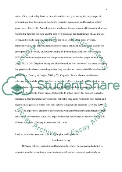 Analytical Comparison of Attachment Theory and Cognitive Theory on Childrens Behaviour essay example