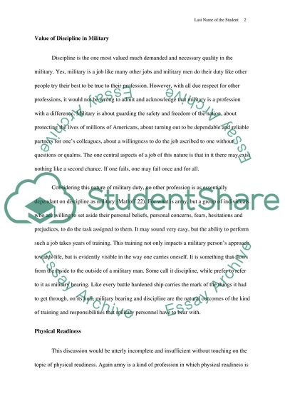 What Is A Thesis Statement In A Essay Military Bearing And Discipline Essay Thesis Statement also Old English Essay Military Bearing And Discipline Essay Example  Topics And Well  Business Argumentative Essay Topics