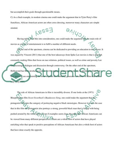 Essay On Science And Technology Role Of African Americans In Film How To Write A Thesis Statement For A Essay also English Sample Essays Role Of African Americans In Film Essay Example  Topics And Well  Essays Topics For High School Students