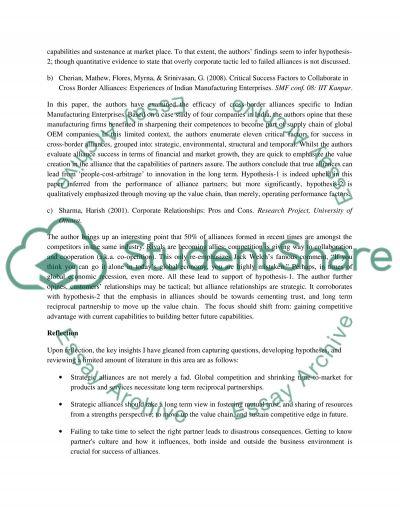MBA Strategic Managment essay example