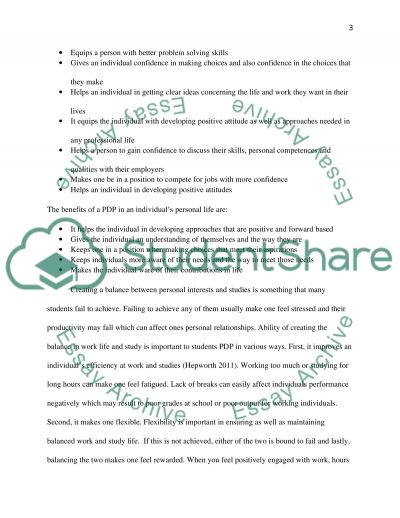 Personal Development Planning - Report