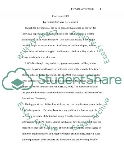 Large Scale Software Development essay example