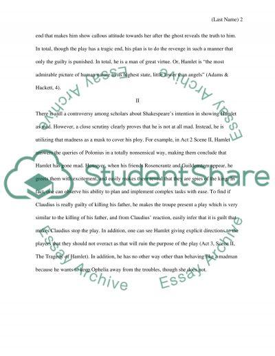 Hamlet essay example