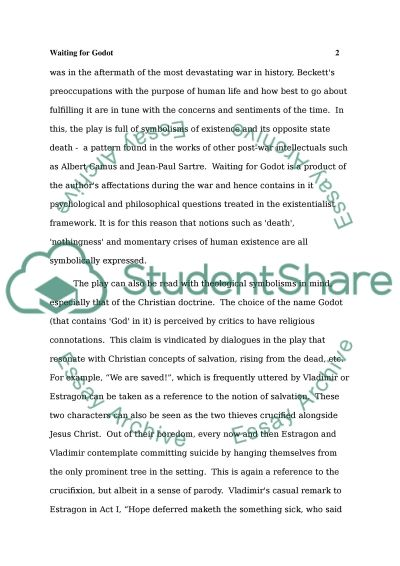 Essay Paper Writing Services Symbolism In Waiting For Godot Memoir Essay also Reference Page For Essay Symbolism In Waiting For Godot Essay Example  Topics And Well  Personal Development Essay