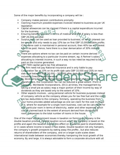 Tax Advice Assignment essay example