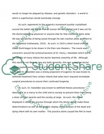 Black Stork essay example