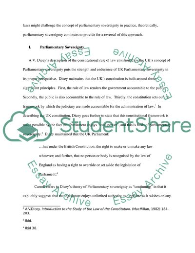 Public Law Essay