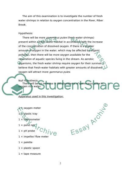 Oxygen Saturation essay example