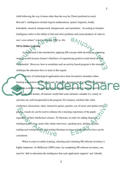 Research Paper: Multiple Intelligences   7 pages