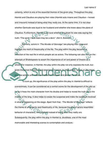hamlet and claudius comparison essay