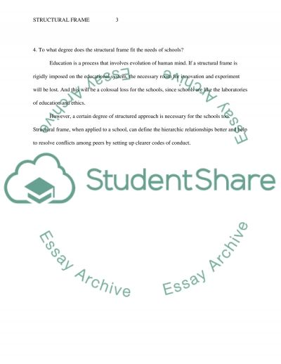 Structural Frame of Leadership essay example