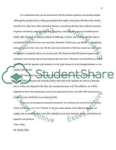 A Negative Adjustment Letter
