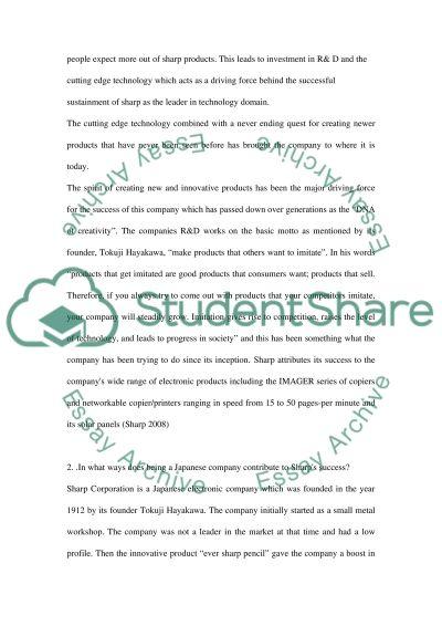 Sharp Corporation essay example