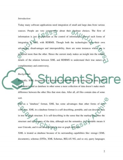 DATABASE MANAGEMENT SYSTEMS Essay essay example