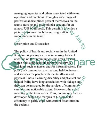 Community Care and Learning Disability