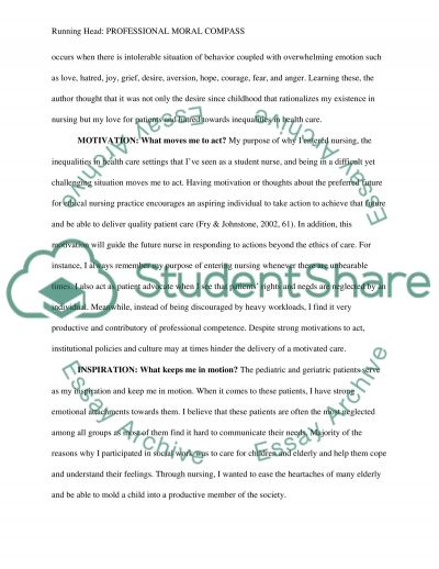 Professional Moral Compass essay example