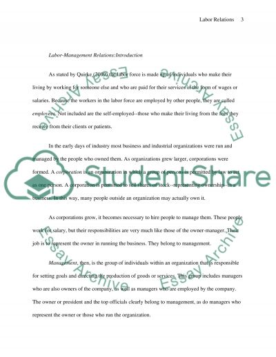 Labor Relations in Education essay example