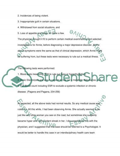 Nursing mental health essay example