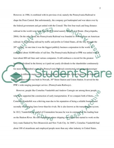 History of Transportation in New Jersey essay example
