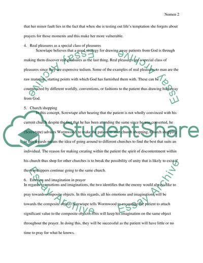 screwtape letters essay