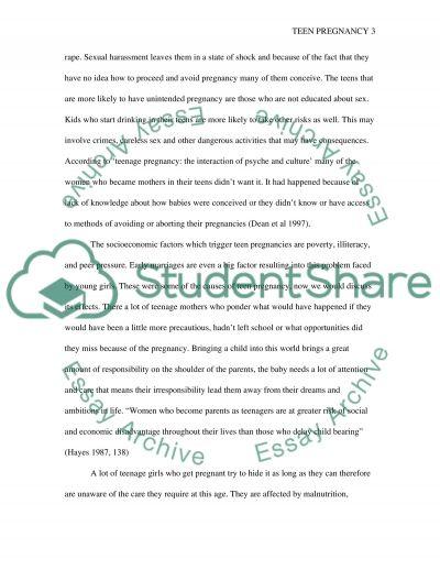 Teen Pregnancy Nursing Term Paper