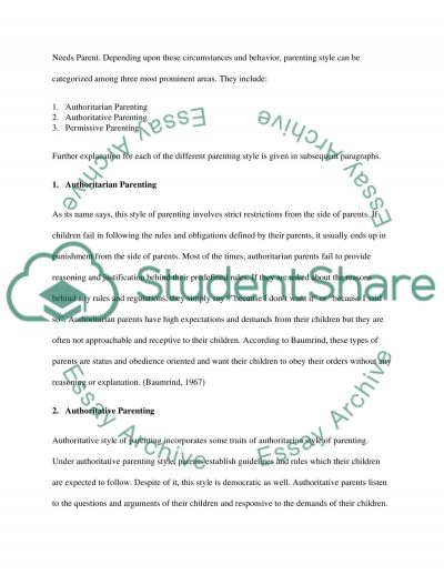 parenting styles research paper example topics and well written  parenting styles essay example