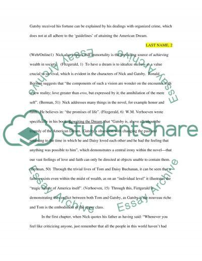 American Dream Essay essay example