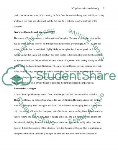 Cognitive Behavioral Therapy (CBT) essay example