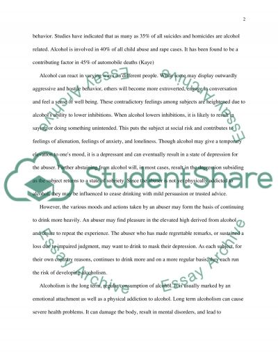 The Psychological Effects of Alcohol essay example