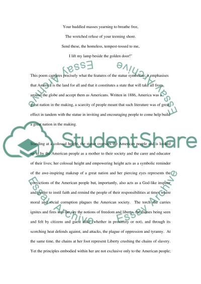Statue of liberty essay example